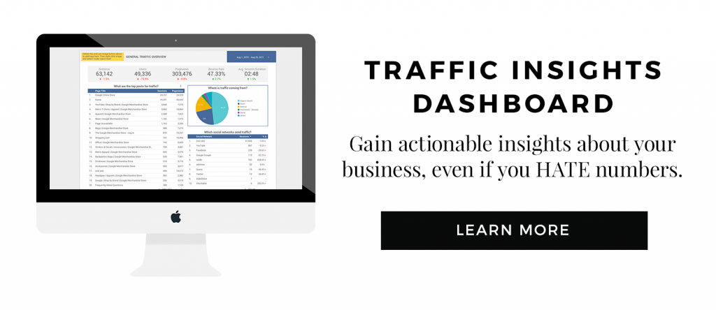 Traffic Insights Dashboard Product Link