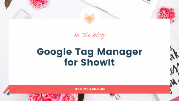 Google Tag Mager for Showit