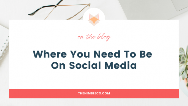 Where you need to be on social Media