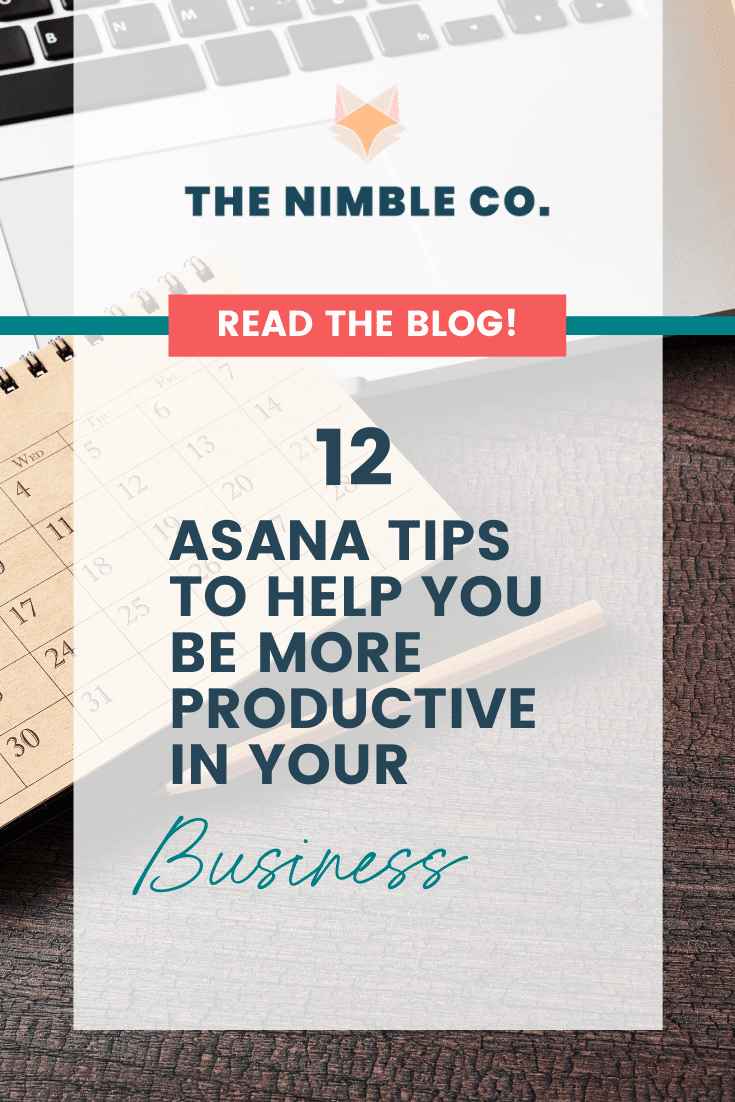 12 Asana Tips To Help You Be More Productive In Your Business   The Nimble Co.