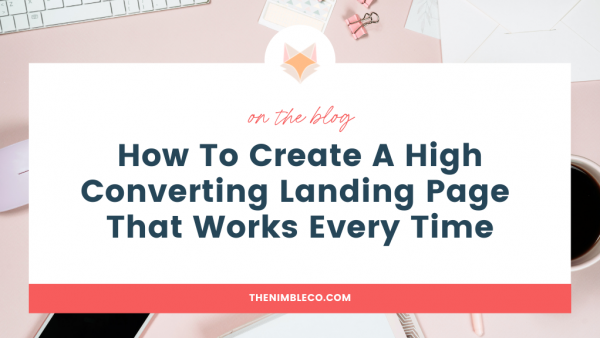 how to create high converting landing page