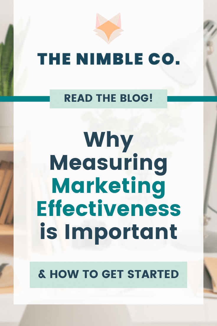 Why Measuring Marketing Effectiveness is Important (& How To Get Started)   The Nimble Co.